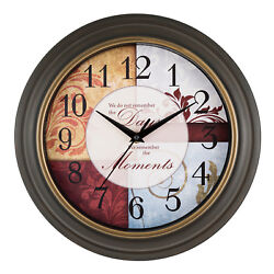 84601 Equity by La Crosse 11.25 Indoor Analog Wall Clock with Inspiration Dial