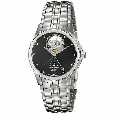 Edox 850133NIN Women's Grand Ocean Silver-Tone Automatic Watch