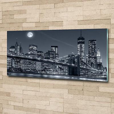 Glas-Bild Wandbilder Druck auf Glas 125x50 Sehenswürdigkeiten Manhattan New York