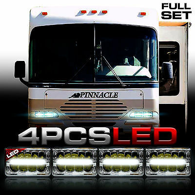 AIRSTREAM PINNACLE 4x LED HEADLIGHTS UPGRADE HEAD LIGHTS LAMPS Motorhome RV