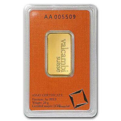 20 gram Valcambi Gold Bar - In Assay Card - SKU #77424