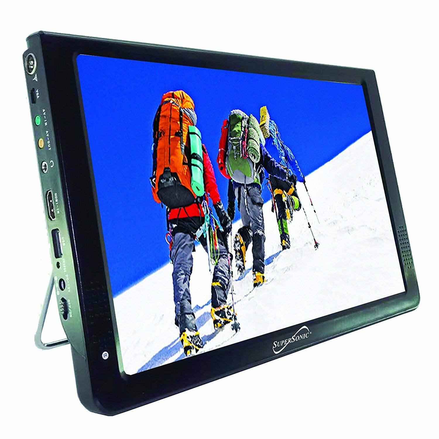 """Supersonic SC-2812 12"""" Portable Lightweight Widescreen  LED TV HDMI, SD USB NEW"""