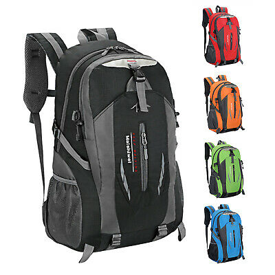 Canvas Book Bag (Men Women Travel Canvas Backpack Rucksack Camping Laptop Hiking School Book)