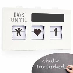 Wood Countdown Calendar Box: Handmade Wooden Box with 3 Changeable Windows