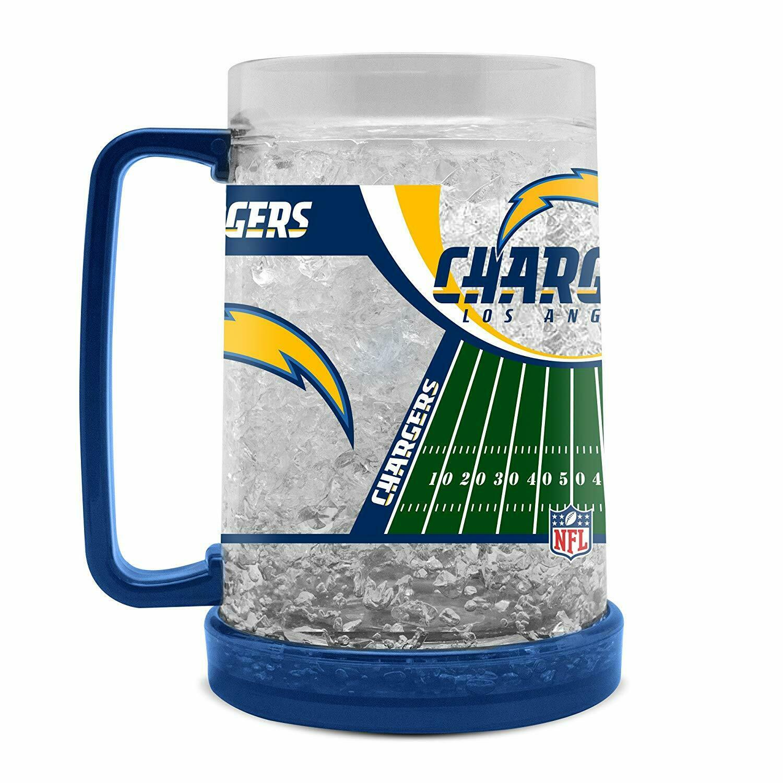 NFL Los Angeles Chargers Kristall Krug Tasse Mug Bier Freezer Football Pils