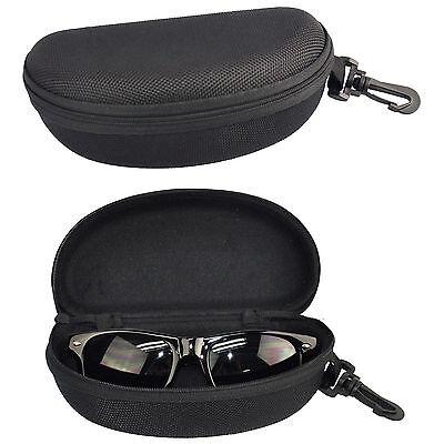 Portable BLACK Zipper Sunglasses Eye Glasses Carry Box Hard Case Protector Shell