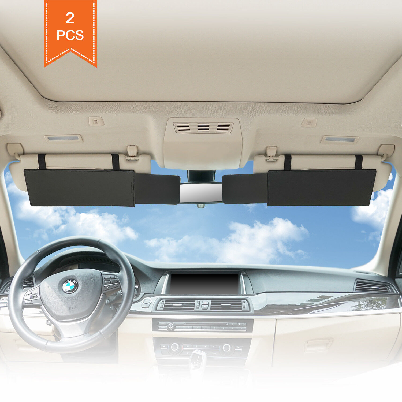 TFY Anti-Glare Sun Car Visor Extender Window Sunshade and UV