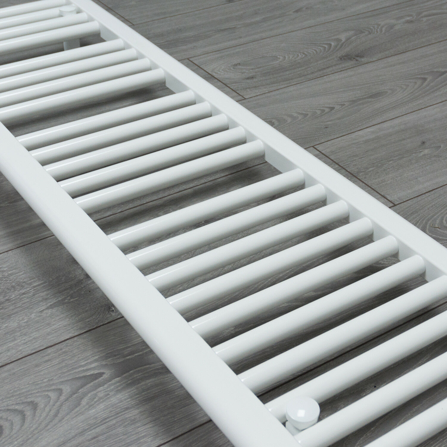 300mm Wide Black Designer Electric Heated Towel Rail: 350 Mm Wide White Ladder Heated Towel Rail Radiator