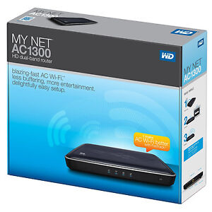 Western-Digital-My-Net-AC1300-HD-Dual-Band-Router-Wireless-AC-WiFi-Router-NIB