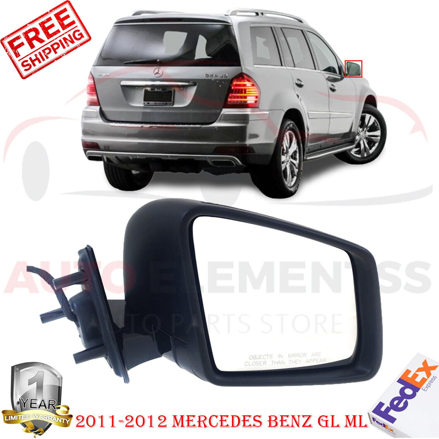 Value Right Mirror Heated In-housing Signal Light Passenger Side RH Hand OE Quality Replacement
