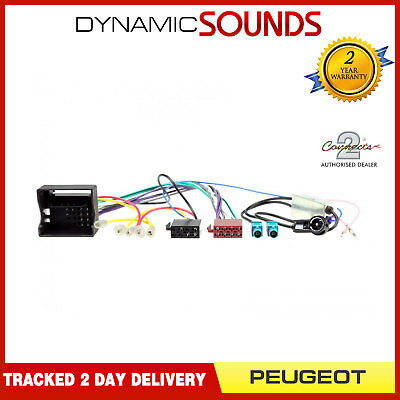 CT20PE06 Car Stereo ISO Wiring Harness Loom & Aerial Adaptor for Peugeot