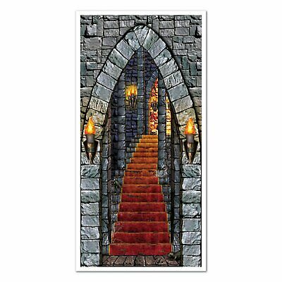 Medieval Castle Entrance Door Cover Scene Setter Photo Props Themed Party](Gothic Halloween Cover Photos)