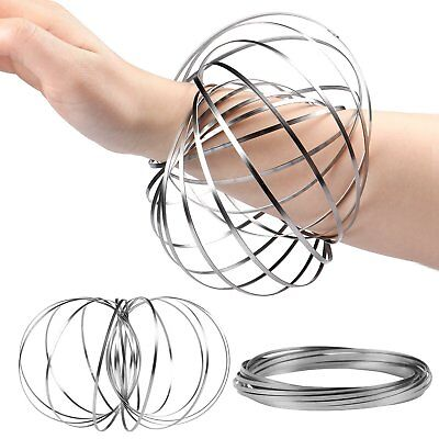 Kinetic Spiral Spring 3D Arm Ring Fidget Toy Rolling On Any Object Viral Game