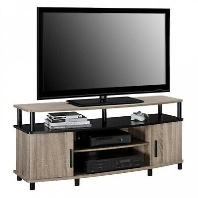 TV Stand Entertainment Center Living Room with Open Shelves Wooden Durable Oak Maple Oak Tv Stand