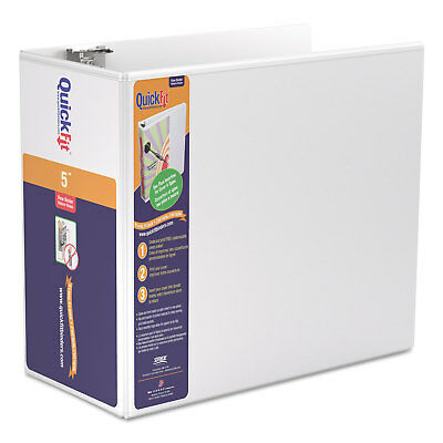 Stride Quickfit D-ring View Binder 5 Capacity 8 12 X 11 White 87070