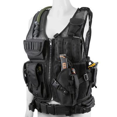 Military Tactical Vest - Plate Carrier Vest Tactical Military SWAT Police Airsoft Combat Assault Vest