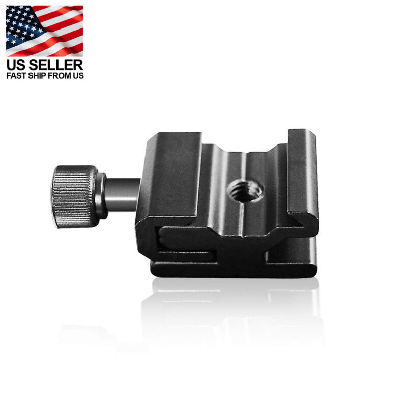 Flash Hot Shoe to Bracket/Stand Mount Adapter Trigger Aluminum Alloy