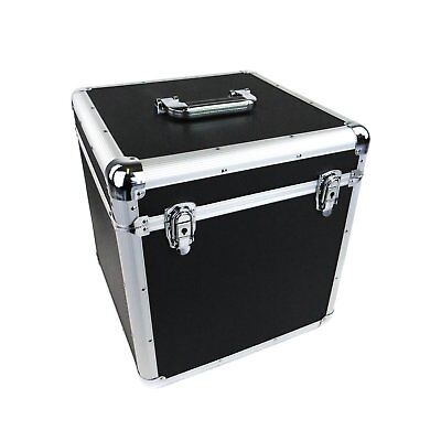 "NEW! 100 x 12"" LP Vinyl Record Box Hard DJ Flight Case Aluminium"
