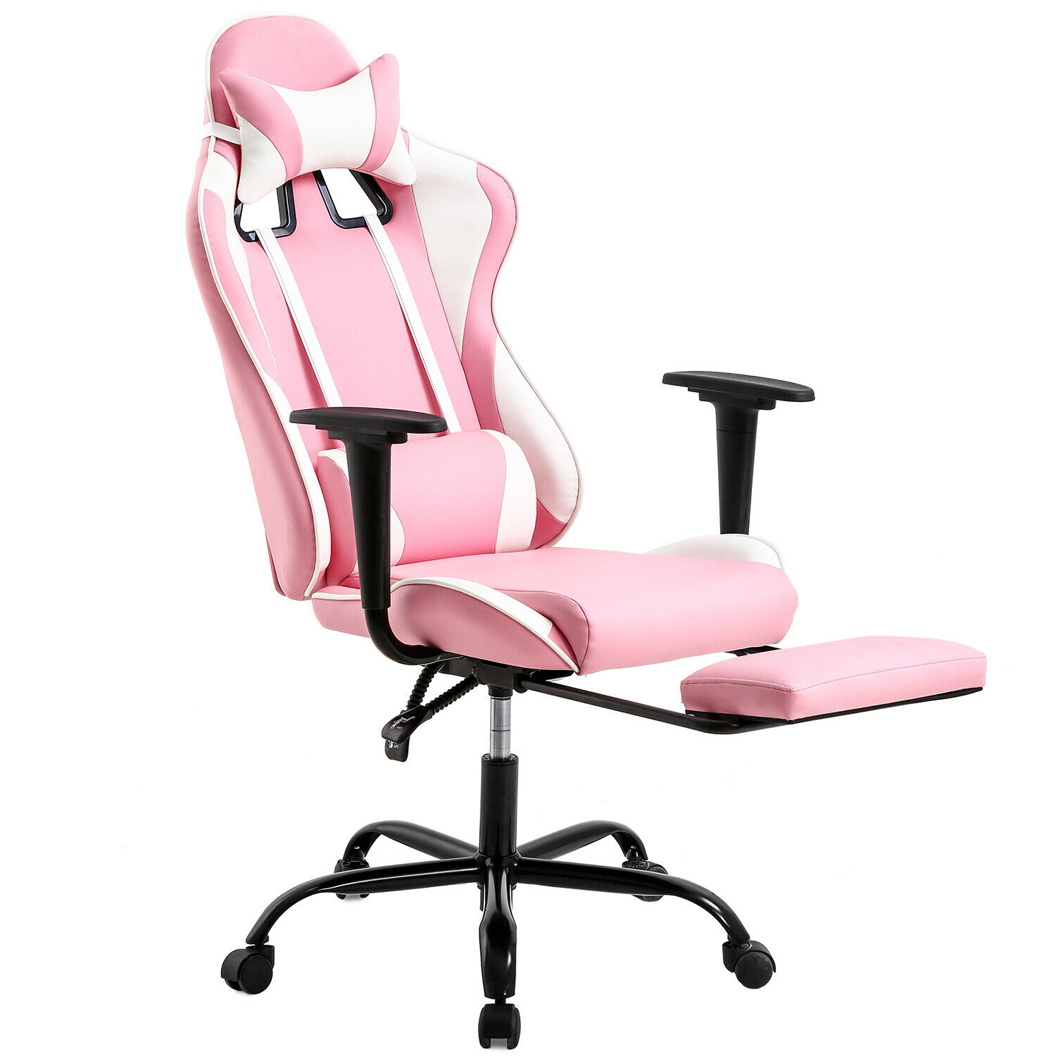 PC Gaming Chair Ergonomic Office Chair Executive  PU Computer Chair,Pink Chairs
