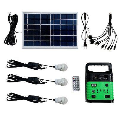 10W Portable Power Solar Generator Lighting Kit Generator for Camping Hiking