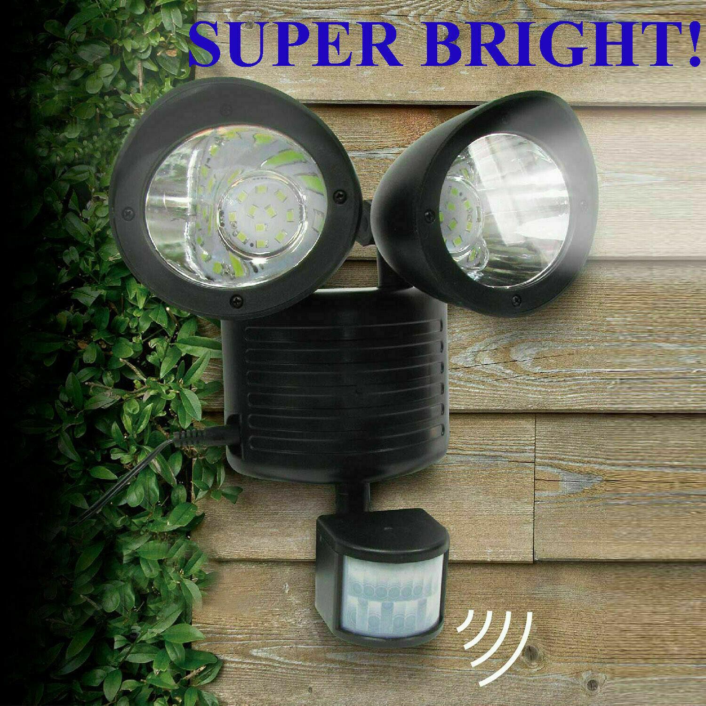Solar LED Street Light Motion Sensor Remote Control Wall Flood Yard Outdoor Lamp Home & Garden