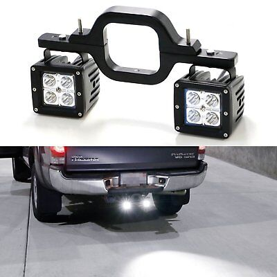 Tow Trailer Hitch Mounting Light Brackets + 2x 16W LED Work Lights for Off road