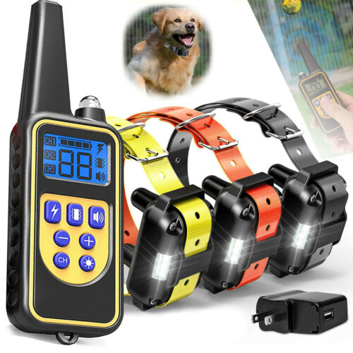 Pet Training Waterproof Rechargeable Dog Training Collar Sho