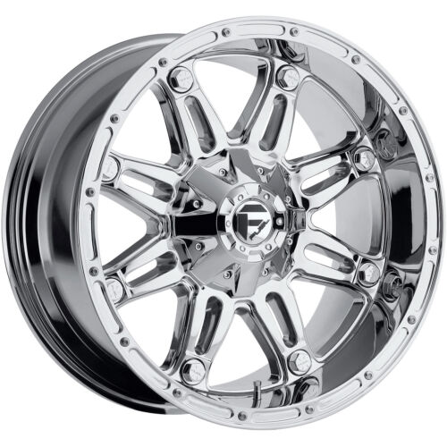 18x9 Chrome Fuel Hostage 6x135 & 6x5.5 -12 Rims Mud Grappler 33