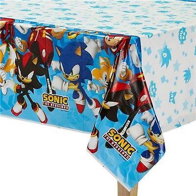 Jungen Mädchen Geburtstags Party Papier Geschirr Sonic The Hedgehog Plastikdecke (Sonic Hedgehog Geburtstag)