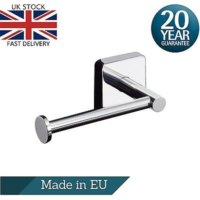 Toilet Roll Holder Stainless Steel Wall Mount Square Bathroom Bar Self Adhesive
