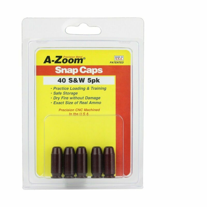 A-ZOOM 40 Smith & Wesson Snap Cap 5 Pack Metal, Precision CNC Machined 15114