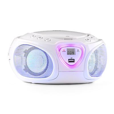 (B-WARE) Auna Radio Boombox CD USB MP3 MW/UKW-Radio Bluetooth 2.1