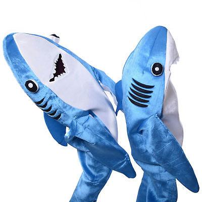 Adults Kids Cosplay Costume Shark Stage Fancy Dress Jumpsuit Halloween Christmas - Halloween Costumes Shark