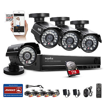 SANNCE 8CH 960H HDMI DVR 800TVL Outdoor CCTV Home Security Camera System 1TB HD on Rummage