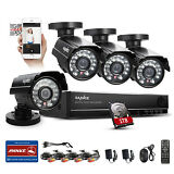 SANNCE 8CH 960H HDMI DVR 800TVL Outdoor CCTV Home Security Camera System 1TB HD