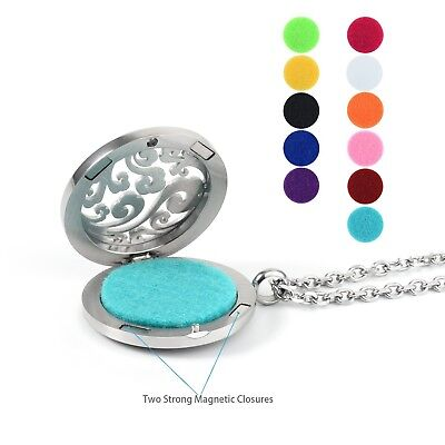 Aromatherapy Diffuser Refill Pads - Aromatherapy Essential Oil Diffuser Necklace Locket Pendant + 11 Refill Pads