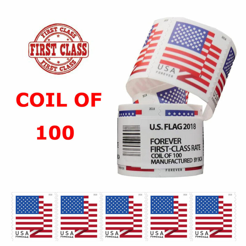 USPS US Flag 2018 Forever Stamps - Roll of 100 - FREE & FAST SHIPPING!! ALL New
