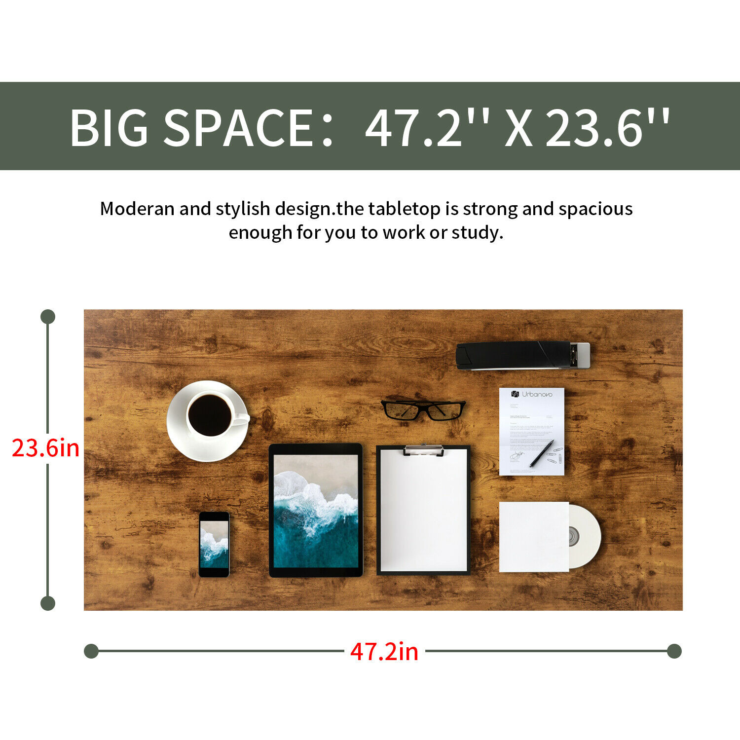 Computer Desk,47.2 inches Home Office Desk Writing Study Table Modern Simple Furniture