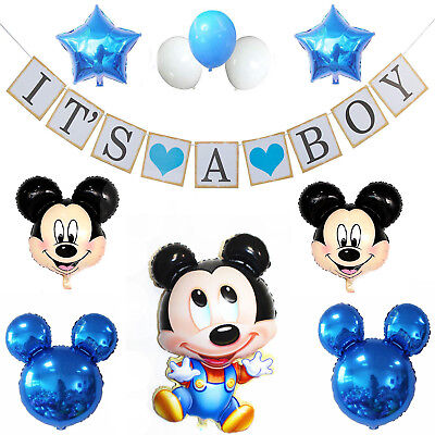 Baby Shower Its a Boy Girl Banner Party Decorations Mickey Mouse  (Its A Boy Banner)
