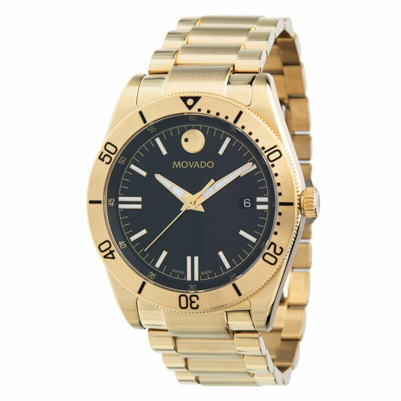 Movado 0607436 Men Movado Sport Gold-Tone Quartz Watch