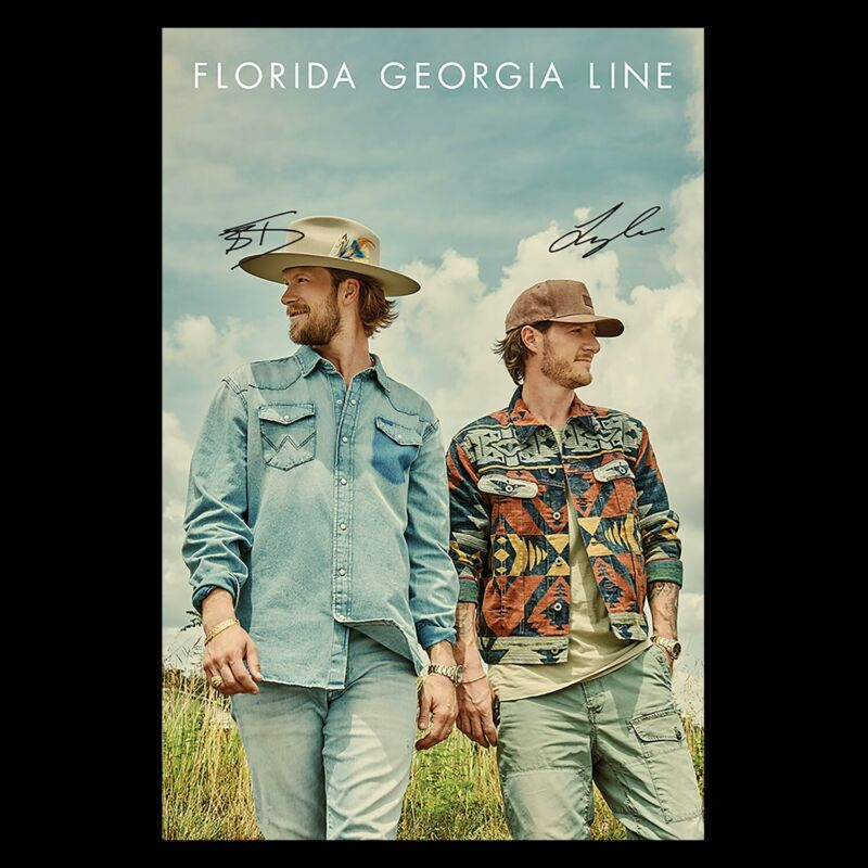"""Florida Georgia Line """"Life Rolls On"""" 12x18 Country Poster"""