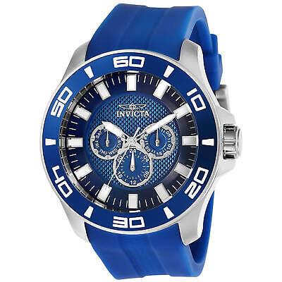 Invicta Men's Watch Pro Diver Chronograph Blue Dial Rubber Strap 28003