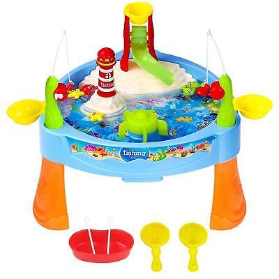 Zooawa Kids Toddlers Mini Fishing Game Set Electric Water Playing Fun Paradise