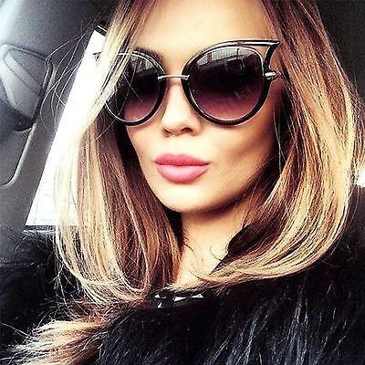 Cat Eye Oversized Fashion Style Women Sunglasses Gradient Lens Oval Frame  ()