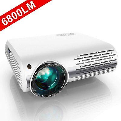 Full HD 4K 1080P 6800 Lumens Home Theater Movie Video Projector HDMI 4D Keystone