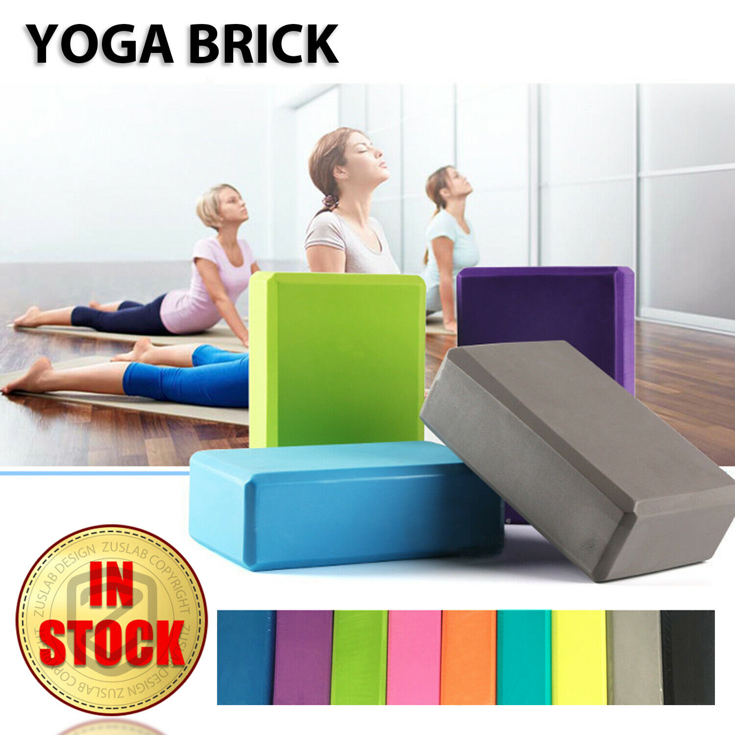 Yoga Block Brick Foaming Home Exercise Practice Fitness Gym Sport Tool