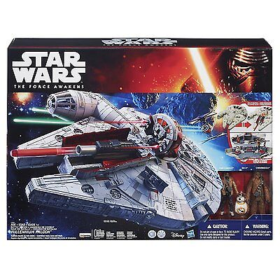NEW HASBRO STAR WARS THE FORCE AWAKENS BATTLE ACTION MILLENNIUM FALCON B3678 TOY