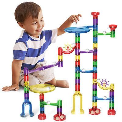 83pcs DIY Marble Race Run Maze Building Blocks Tower Game Kids Child Toy Gift (Marble Run Toys)