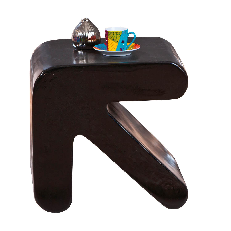 tisch beistelltisch nachttisch schwarz hochglanz fiberglas zeitungsst nder neu eur 76 50. Black Bedroom Furniture Sets. Home Design Ideas
