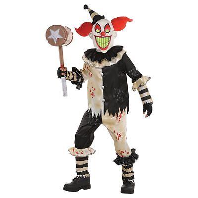 Boys Scary Clown Costume Teen Kids Halloween Carnival Nightmare Fancy Dress - Scary Clown Halloween Costumes For Boys